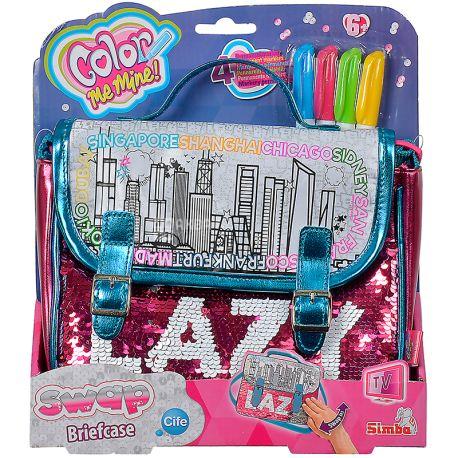 Simba Color Me Mine, Набор для творчості, Сумка-портфель Хамелеон, дітям з 6-ти років
