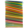 Помощница, Соломки прямые, 22 см, цветные, 1000 шт.