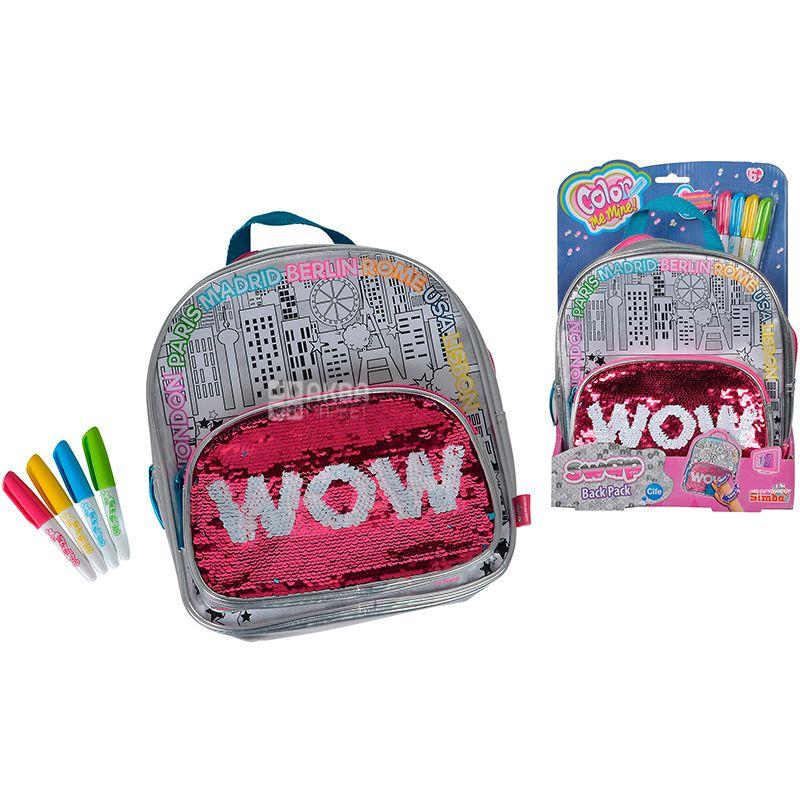 Simba Color Me Mine, Набор для творчества, Сумка-рюкзак Хамелеон, для детей с 6-ти лет