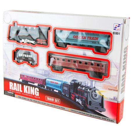 Rail King, Игрушечная железная дорога, пластик, металл, детям от 2-х лет