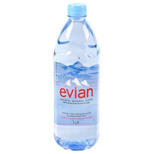 Evian, 1 л, Евіан, Вода негазована, ПЕТ