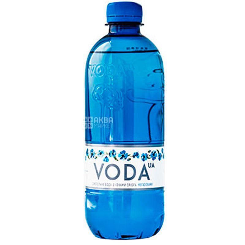 VODA UА, 0,5 л, Вода ЮА, Вода негазована, ПЕТ