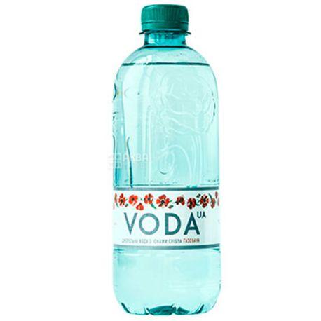 VODA UА 0,5 л, Вода ЮА, Вода газированная, ПЭТ