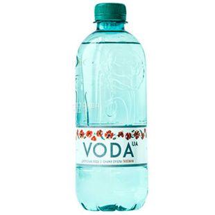 VODA UА, 0,5 л, Вода ЮА, Вода газована, ПЕТ