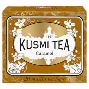 Kusmi Tea, Caramel, 20 пак. х 2,2 г, Чай Кусми Ти, Карамель, черный