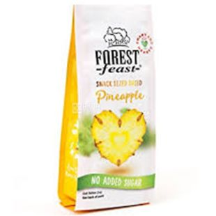 Forest Feast pineapple dried hearts, 80 g