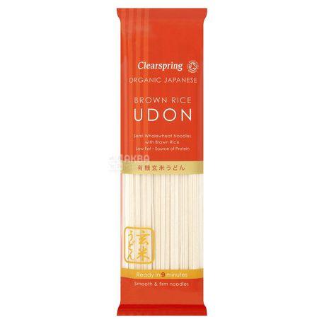 Clearspring Udon, 200 г, Макароны, Лапша Клиерспринг Удон, с мукой коричневого риса, органическая