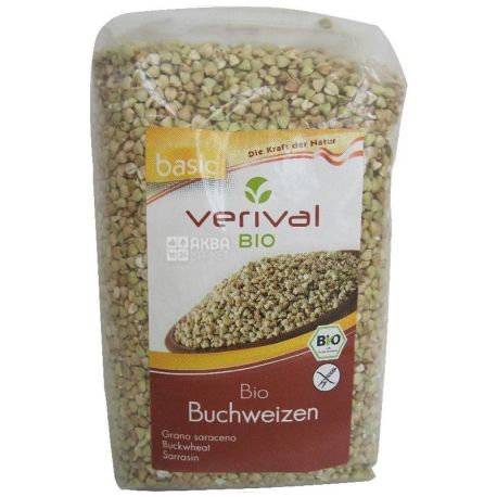 Verival, Buchweizen Bio, 500 г, Верівал, Крупа гречана, органічна