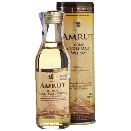 Amrut Cask Strength, Whiskey, 61.8%, 0.05 L