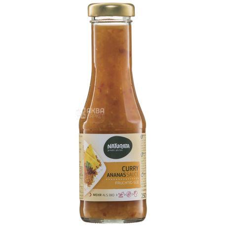 Naturata Curry-Pineapple, Соус Карри-ананас органический, 0,25 л