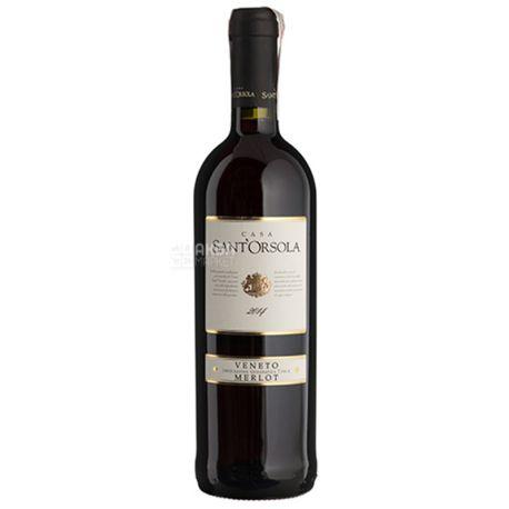 Sant'Orsola Merlot del Veneto, Вино красное сухое, 0,75 л