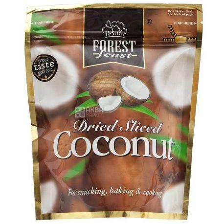 Forest Feast, Кокос сушеный, кусочки, 100 г