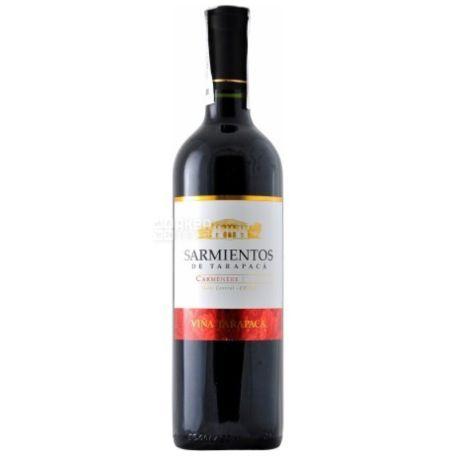 Tarapaca Carmenere Sarmientos, Вино красное сухое, 0,75 л