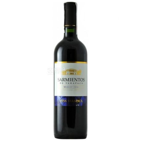 Tarapacа Sarmientos Merlot, Вино красное сухое, 0,75 л