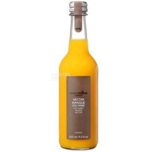 Alain Milliat, Nectar de Mangue, Манго, 0,33 л, Ален Миллиат, Нектар натуральный, стекло