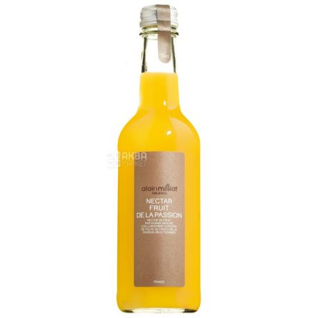 Alain Milliat, Fruit de la Passion, Маракуйя, 0,33 л, Ален Миллиат, Нектар натуральный, стекло