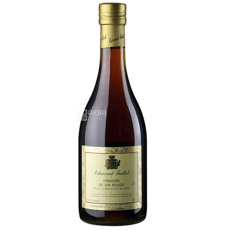 Edmond Fallot, Уксус винный красный, 0,5 л