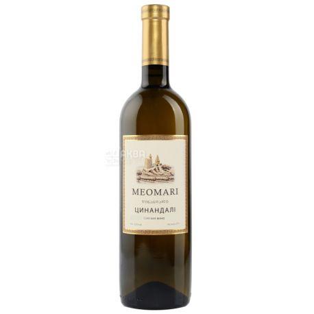 Meomari Цинандали марочное, Вино белое сухое, 0,75 л