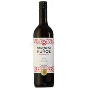 Bienvenido Munoz Tempranillo, Вино красное сухое, 0,75 л