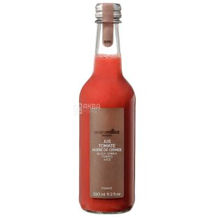 Alain Milliat, Jus Tomate Noire de Crimee, 330 мл, Ален Миллиат, Сок томатный сорта Черный Крымский, стекло