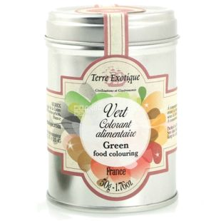 Terre Exotique Natural Green Food Dye, 50 g