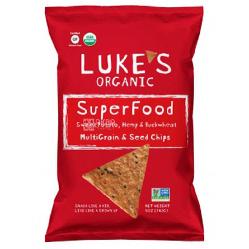 Luke's, Чипсы мультизлаковые с суперфудом бататом, органические, без глютена, 142 г