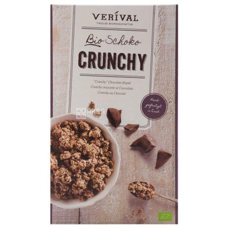 Verival, 375 г, Кранчи Веривал, смесь злаков, с шоколадом, органические