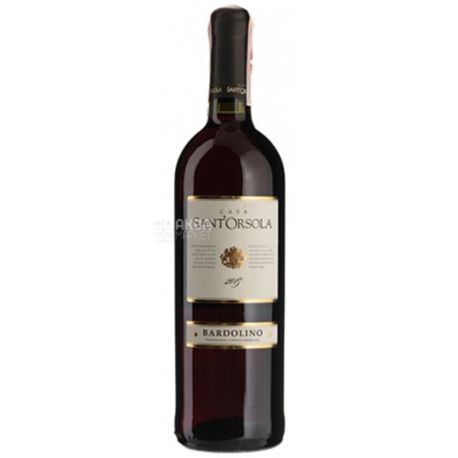 Sant'Orsola Bardolino, Вино красное сухое, 0,75 л