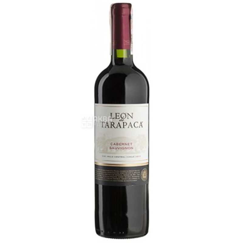 Tarapacа Cabernet Sauvignon Leon de Tarapaca, Вино красное сухое, 0,75 л