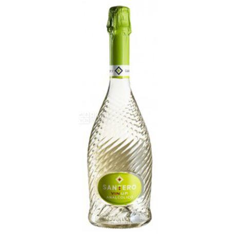 Santero Vin Up Analcolico, Вино игристое белое сухое, 0,75 л