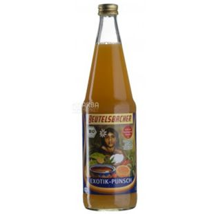 Beutelsbacher, Exotik-Punsch Organic Juice (Exotic-Punch), Multifruit, 0.7 l, Glass