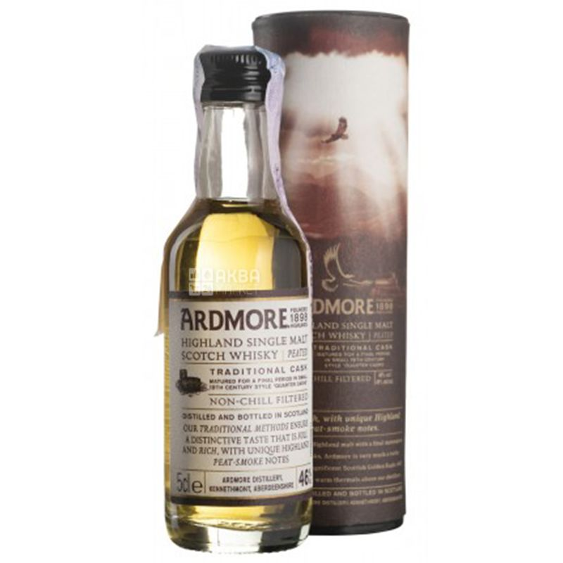 Ardmore Distillery Ardmore Traditional Cask Peated, Виски, 46 %, 0,05 л