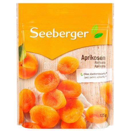 Seeberger, Абрикоси екстра сушені, освітлені, великі, 125 г