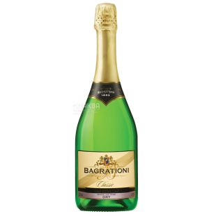 Bagrationi Classic Dry, Sparkling White Dry Wine, 0.75 L