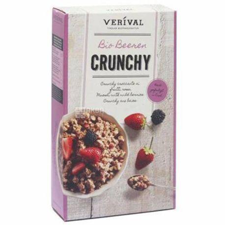 Verival, 325 г, Мюсли Веривал, смесь злаков, органические, с ягодами, сухой завтрак, быстрого приготовления