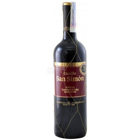 J. Garcia Carrion Castillo San Simon Reserva, Вино красное сухое, 0,75 л
