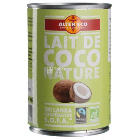 Alter Eco, Lait de Coco nature, 400 мл, Альтер Еко, Молоко кокосове, органічне, ж/б