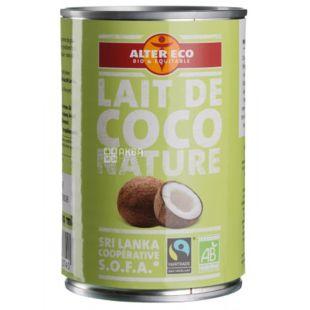 Alter Eco, Молоко кокосовое, органическое, 400 мл