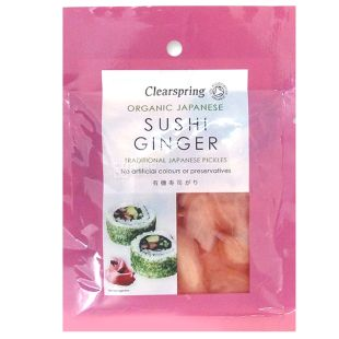 Clearspring, Marinated Sushi Ginger, Organic, 50 g