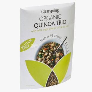 Clearspring, Quinoa trypohtsvetny 90 seconds, organic, gluten free, 250 g