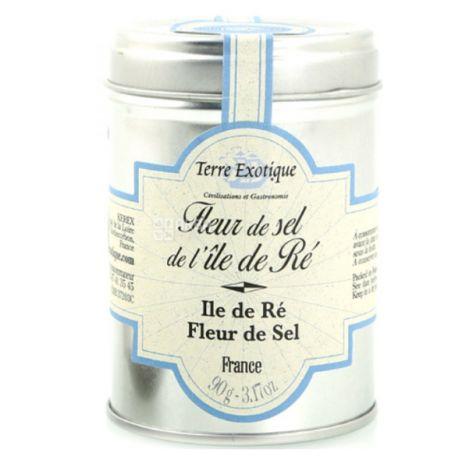 Terre Exotique, Соль Фльор де сель натуральная из Иль-де-Ре (Франция), 90 г