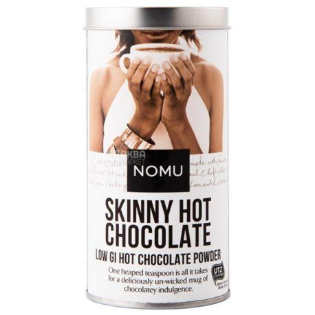 Nomu, Skinny hot chocolate, 200 г, Ному, Горячий шоколад без сахара, тубус