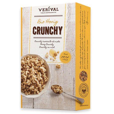 Verival, 375 г, Кранчи Веривал, смесь злаков, с медом, органические