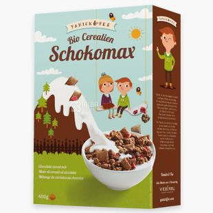 Verival, Schokomax, 400 г, Гранола Верівал Шокомакс, органічна, шоколад і полуниця