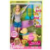 Barbie, Ігровий набір з лялькою і собачкою, Прогулянка з цуценям, для дітей від 3-х років