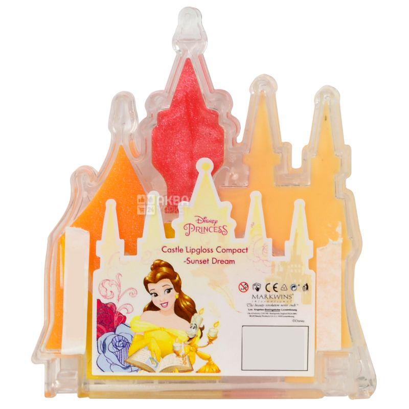 Markwins Disney Princess, Блеск для губ Закат солнца, детский, 5 видов