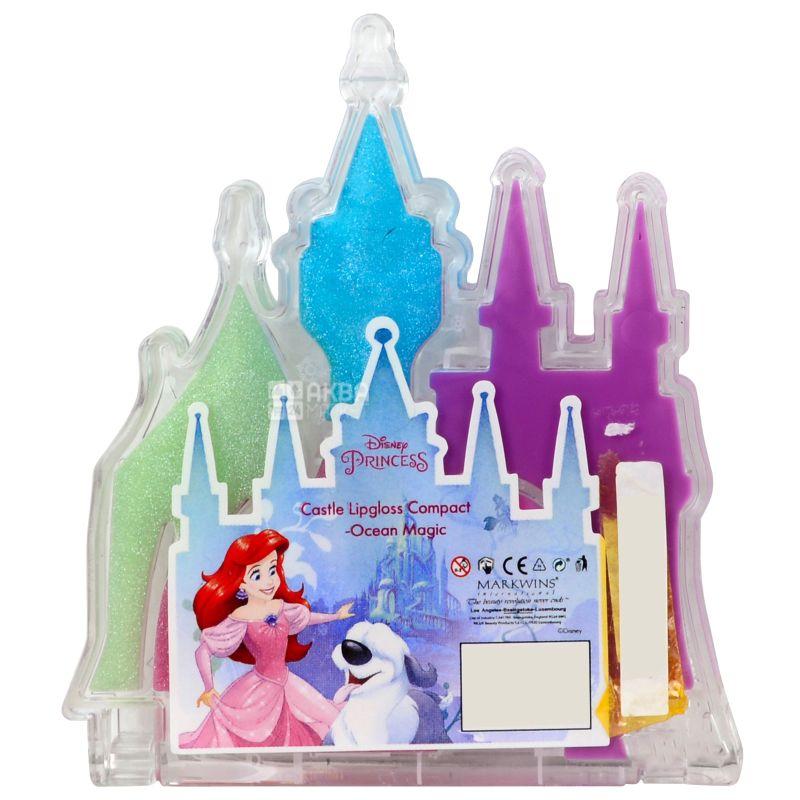 Markwins Disney Princess, Блеск для губ Магия океана, детский, 5 видов