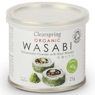Clearspring, Васаби порошок, органический, 25 г