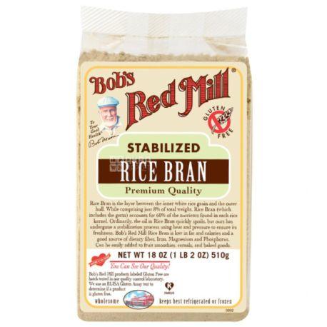 Bob's Red Mill, 510 г, Отруби Бобс Ред Милл, рисовые, без глютена