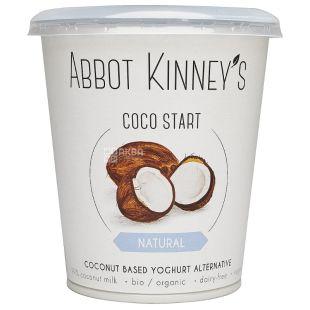 Abbot Kinney's, Йогурт кокосовый, Органический, Натуральный, 400 мл